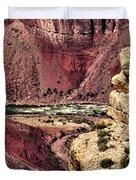 Colorado River. Grand Canyon Duvet Cover