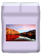 Colorado River Lees Ferry Painting Duvet Cover