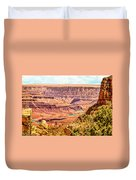 Colorado River One Mile Below And 18 Miles Across The Grand Canyon  Duvet Cover