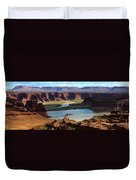 Colorado River Panoramic Duvet Cover