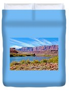 Colorado River Upstream From Boat Ramp At Lee's Ferry In Glen Canyon National Recreation Area-az Duvet Cover