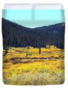 Colorado River Valley In Fall Duvet Cover