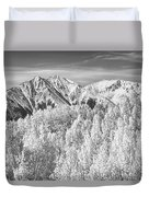 Colorado Rocky Mountain Autumn Beauty Bw Duvet Cover