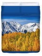 Colorado Rocky Mountain Autumn Magic Duvet Cover