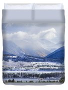 Colorado Rocky Mountain Autumn Storm Duvet Cover