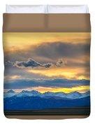 Colorado Rocky Mountain Front Range Sunset Gold Duvet Cover