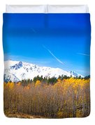 Colorado Rocky Mountain Independence Pass Autumn Pano 1 Duvet Cover