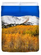Colorado Rocky Mountain Independence Pass Autumn Pano 2 Duvet Cover