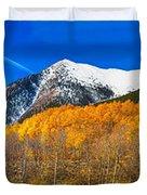Colorado Rocky Mountain Independence Pass Autumn Panorama Duvet Cover