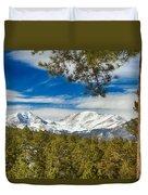 Colorado Rocky Mountain View Duvet Cover