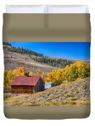 Colorado Rustic Rural Barn With Autumn Colors  Duvet Cover