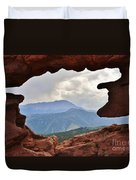 Colorado Siamese Twins Pikes Peak View Duvet Cover