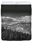 Colorado Ski Slopes In Black And White Duvet Cover
