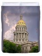 Colorado State Capitol Building Denver Co Duvet Cover