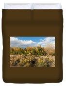 Colorado Urban Autumn Landscape Duvet Cover
