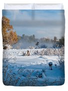 Colorado Waning Autumn And Approaching Winter Duvet Cover by Cascade Colors