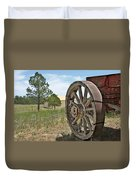 Colorado - Where The Columbines Grow Duvet Cover by Christine Till