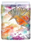 Colored Bird Duvet Cover