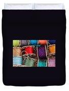 Colored Bobbins - Seamstress - Quilter Duvet Cover