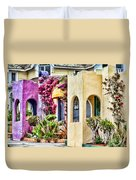 Colored Cottages By Diana Sainz Duvet Cover