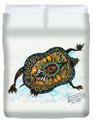 Colored Cultural Zoo C Eastern Woodlands Tortoise Duvet Cover