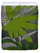 Colored Jungle Green Duvet Cover
