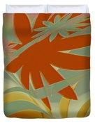 Colored Jungle Orange Splash Duvet Cover