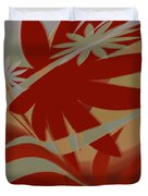 Colored Jungle Red Duvet Cover