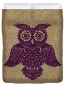 Colored Owl 1 Of 4  Duvet Cover