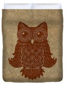 Colored Owl 2 Of 4  Duvet Cover