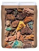Colored Stone Rock Church Wall - Cedar City - Utah Duvet Cover