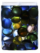 Colored Stones Of Light Duvet Cover
