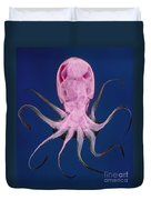 Colored X-ray Of An Unidentified Octopus Duvet Cover