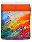 Colorful Abstract Acrylic Painting Duvet Cover
