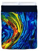 Colorful Abstract Art - Energy Flow 2 - By Sharon Cummings Duvet Cover