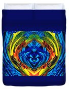 Colorful Abstract Art - Purrfection - By Sharon Cummings Duvet Cover