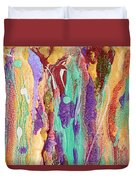 Colorful Abstract Falls Duvet Cover by Julia Apostolova