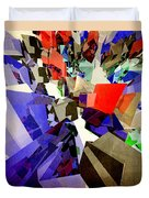 Colorful Abstract Geometric Cluster Duvet Cover