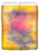 Colorful Abstract Tree At Sunset Duvet Cover