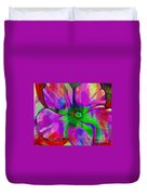 Colorful African Violet Duvet Cover