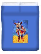 Colorful Angus Cow Duvet Cover