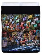 Colorful Art Store In Mexico Duvet Cover