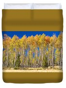 Colorful Aspen Panorama Duvet Cover