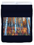 Colorful Aspens Duvet Cover