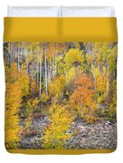 Colorful Autumn Forest In The Canyon Of Cottonwood Pass Duvet Cover