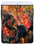 Colorful Autumn Grapes Duvet Cover