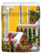 Colorful Balconies Duvet Cover