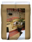 Colorful Balcony Duvet Cover