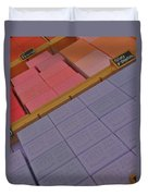 Colorful Bars Soap On Market In Provence Duvet Cover