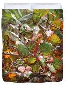 Colorful Beach Sea Grapes Duvet Cover